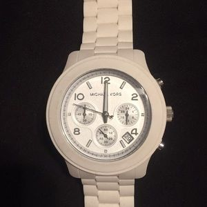 Michael Kors White Silicon Rubber Watch
